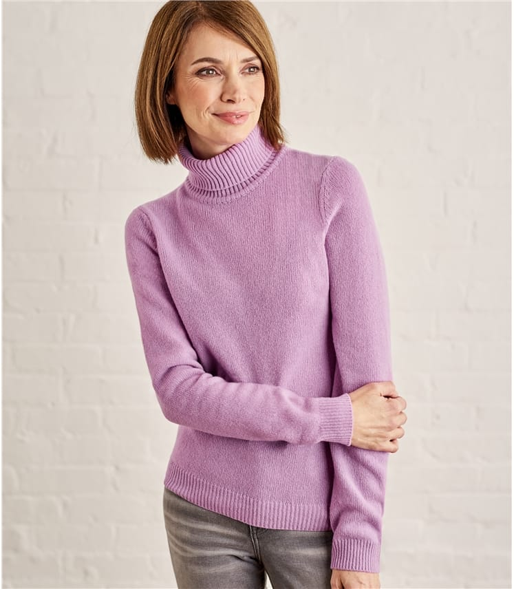 Womens Lambswool Polo Sweater