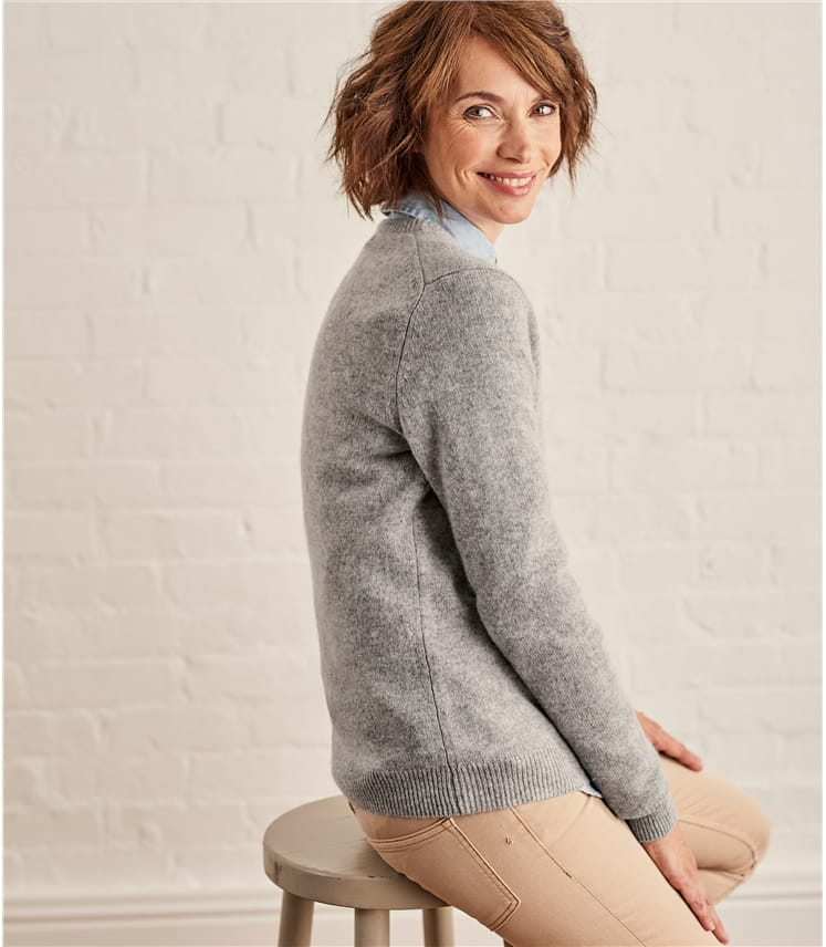 Womens Lambswool Crew Neck Sweater