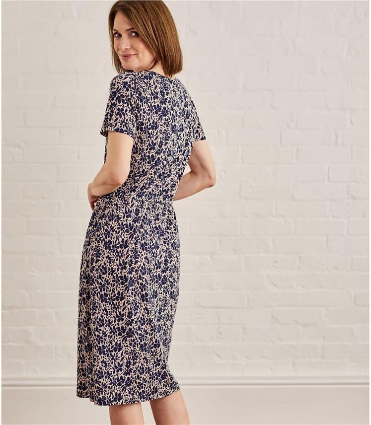 Womens Jersey Wrap Skirt Dress