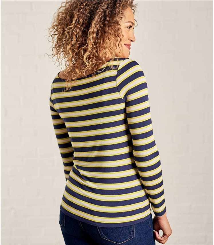 Womens Jersey Boat Neck Long Sleeve T-Shirt