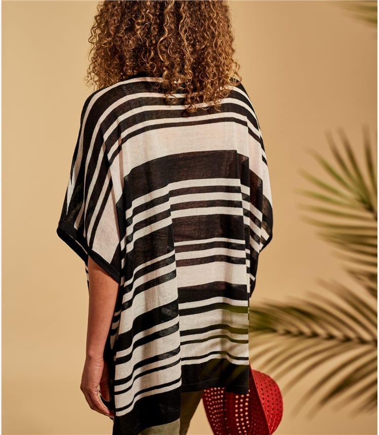 Womens Stripe Oversized Tunic