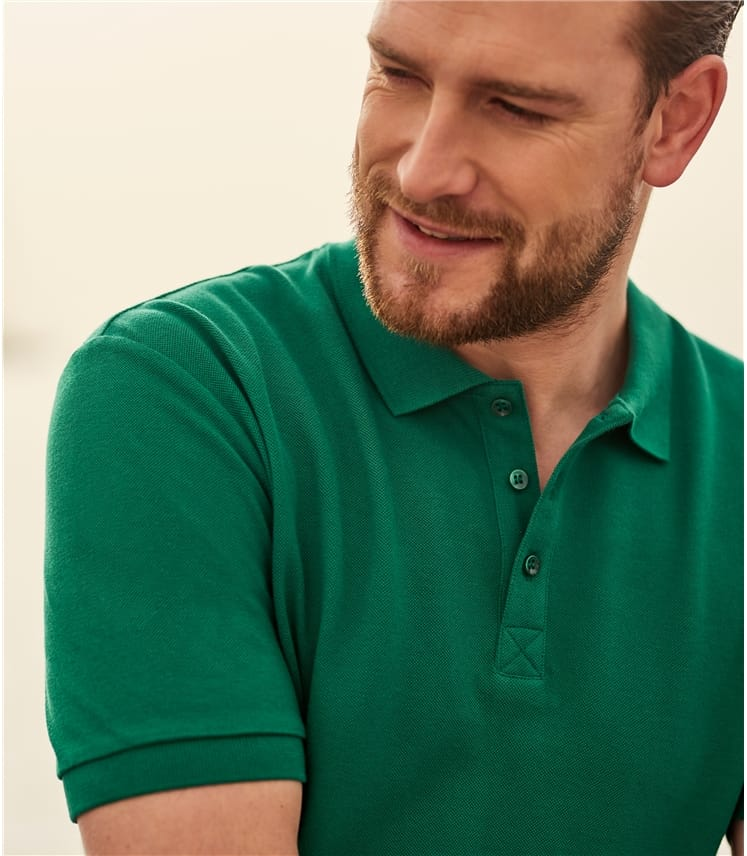 Mens Slim Jersey Polo Shirt