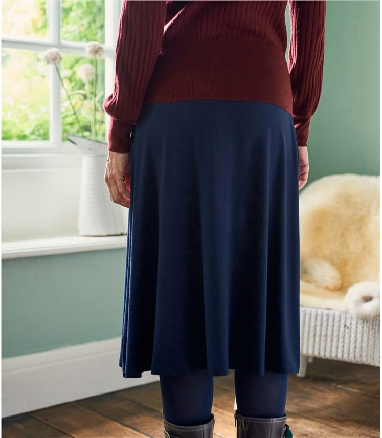 Jupe coupe évasée - Femme - Jersey