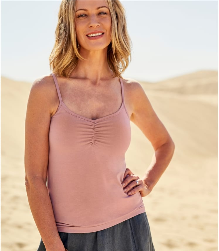 Womens Rouched Cami