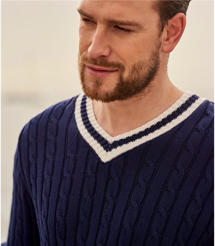 Mens Cotton Cricket Jumper