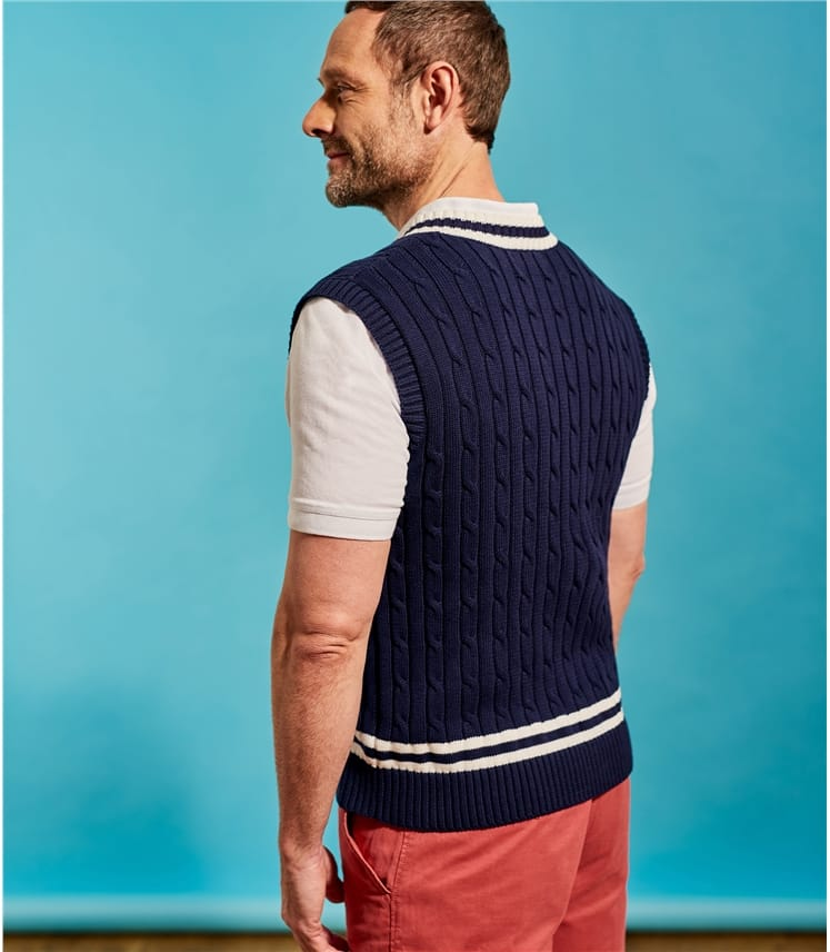 Mens Sleeveless Cricket Jumper