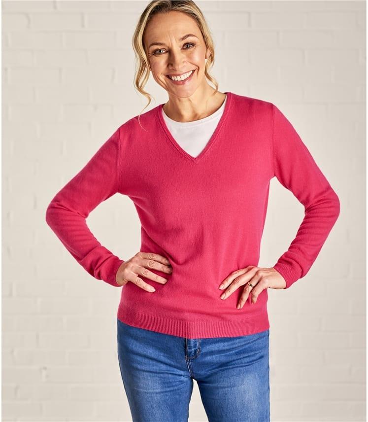 Женский пуловер из кашемира и шерсти мериноса
