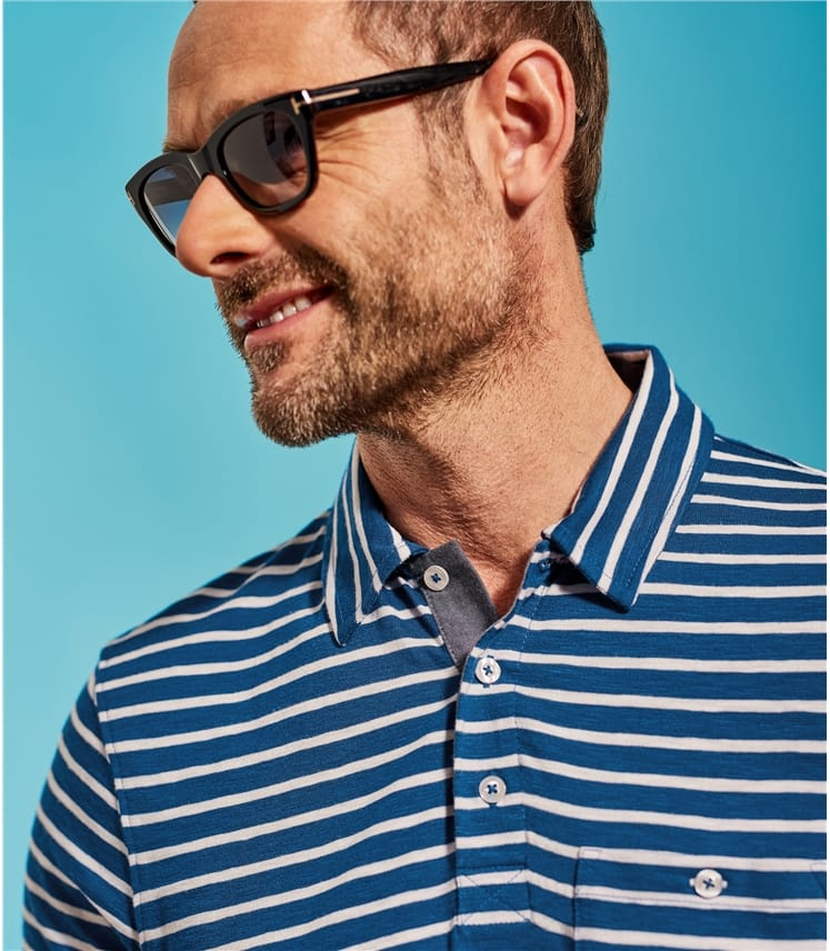 Polo à rayures - Homme - Jersey