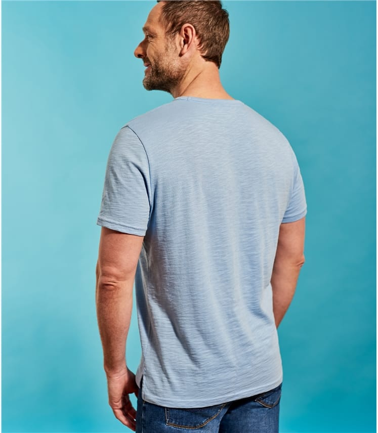 Mens Slubby Cotton Casual Crew