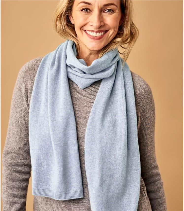 Klassicher Schal aus Merino- und Kaschmirwolle für Damen