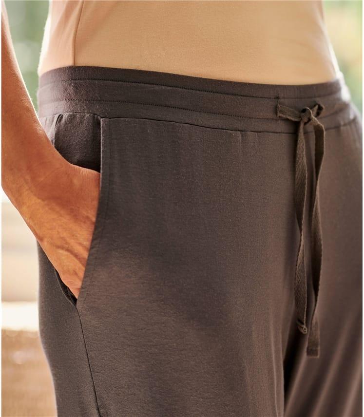 Pantalon détente à revers - Femme - Jersey