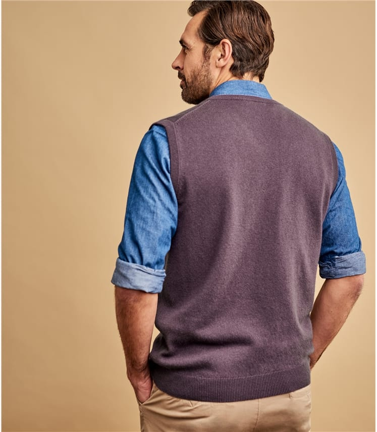 Mens Cashmere and Merino Vest