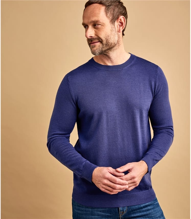 Mens New Merino Crew Neck Jumper