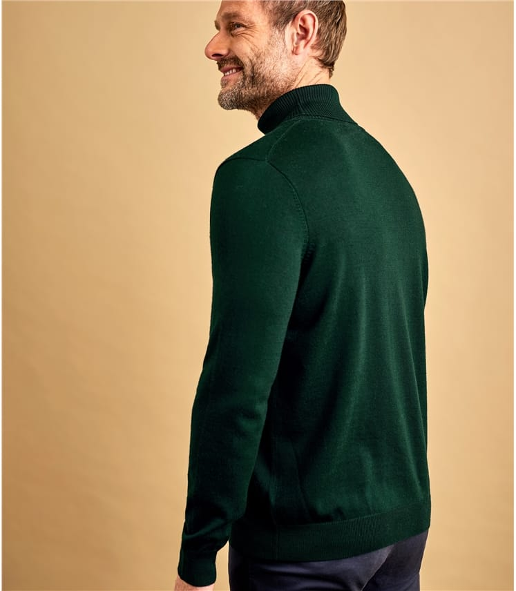 Mens 100% Merino Turtle Neck Sweater