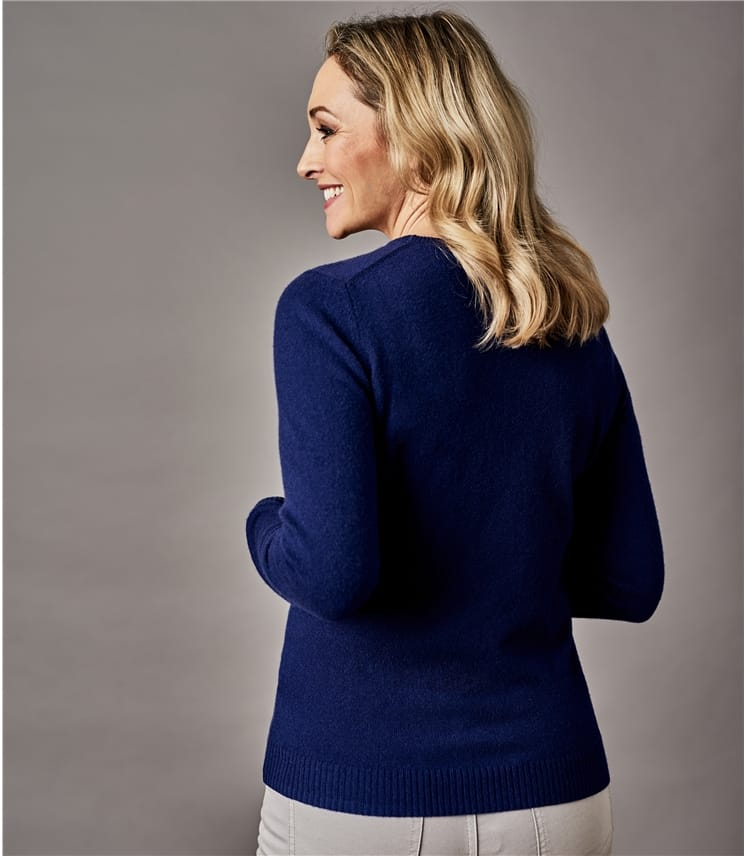 Womens Pure Cashmere Crew Neck Sweater