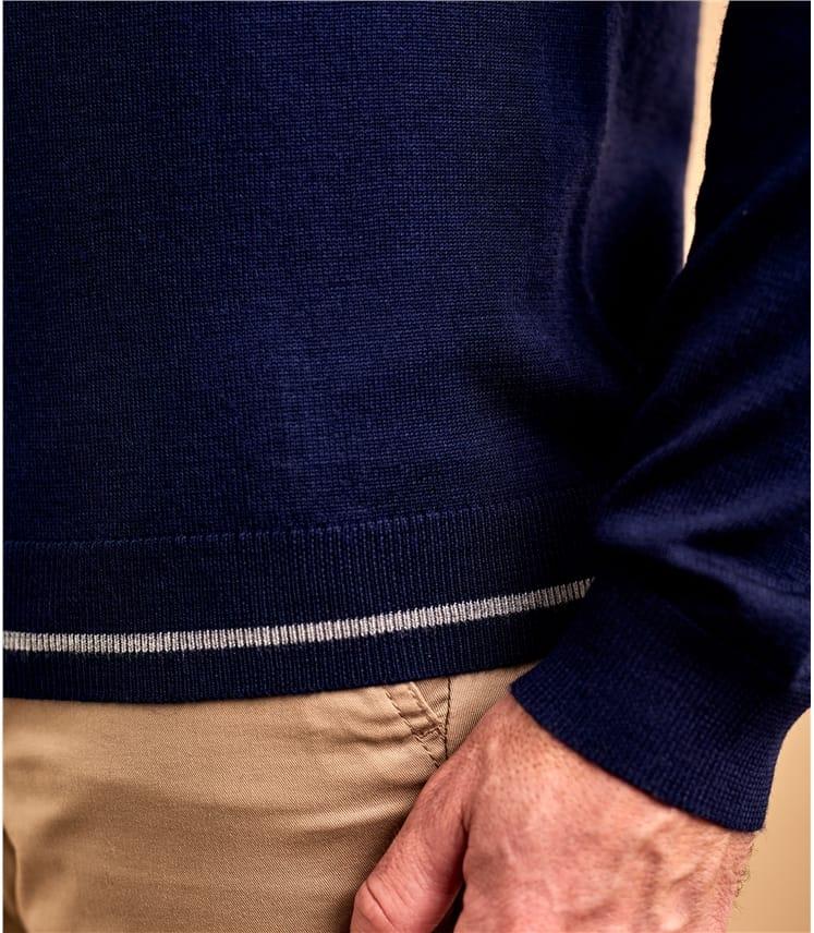 Pullover mit Rundhalsausschnitt aus Merinowolle für Herren