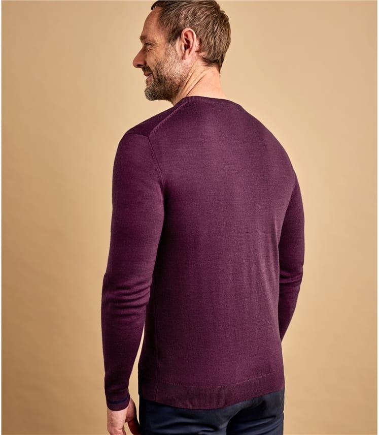 Pullover mit V-Ausschnitt aus Merinowolle für Herren