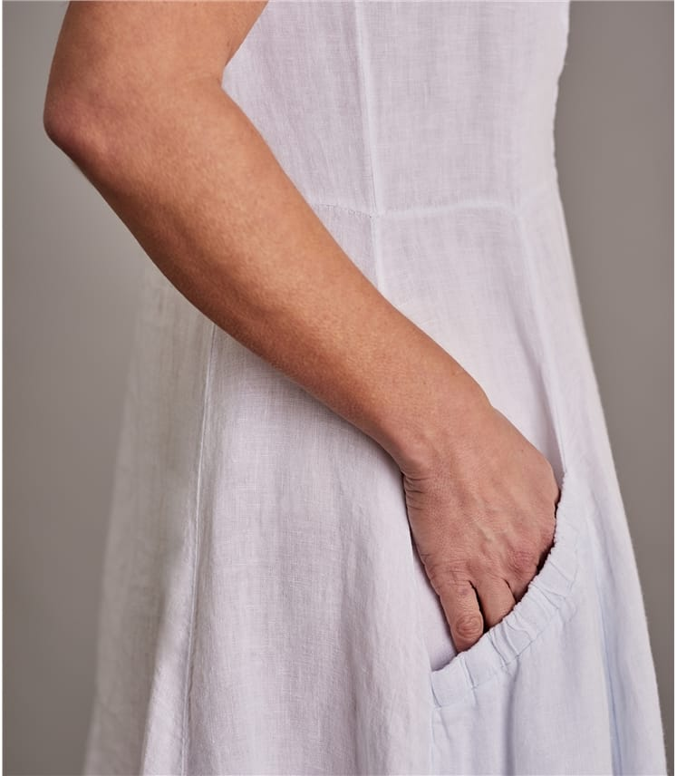 Robe chasuble à poches - Femme - Pur Lin