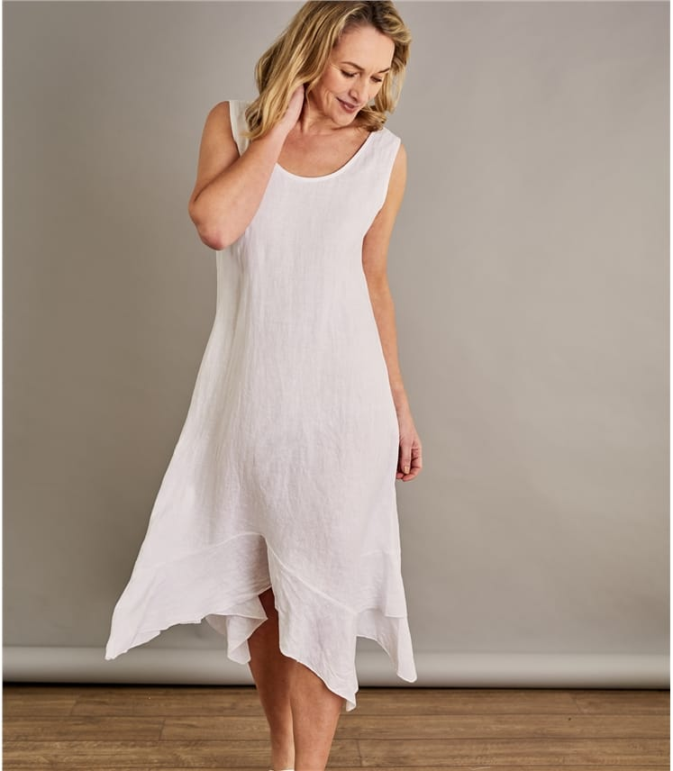 Womens Frill Hem Dress