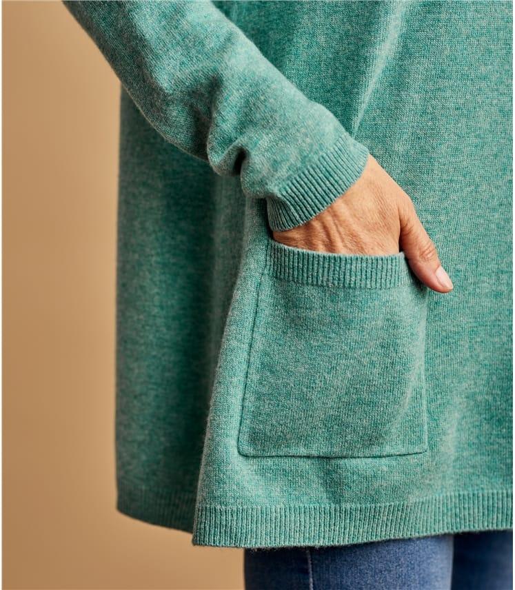Tunique trapèze à poches - Femme - Cachemire & Mérinos