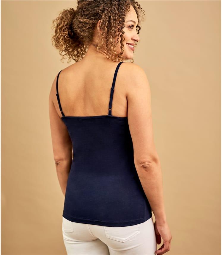 Womens Lace Trim Cami Top