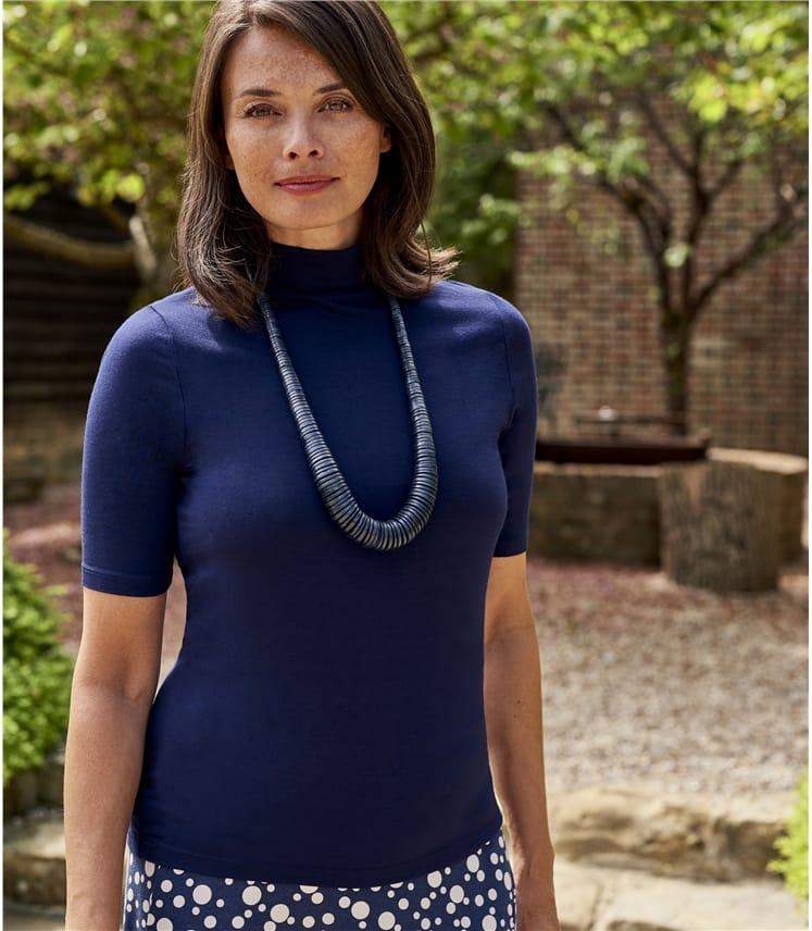 Sous-pull à manches courtes - Femme - Jersey