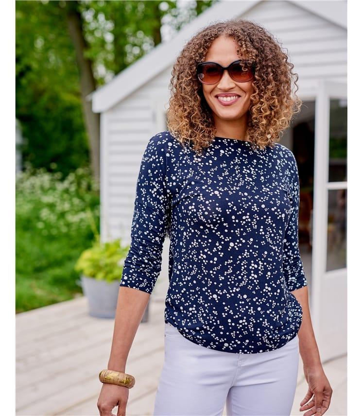 T-shirt encolure bateau - Femme - Jersey