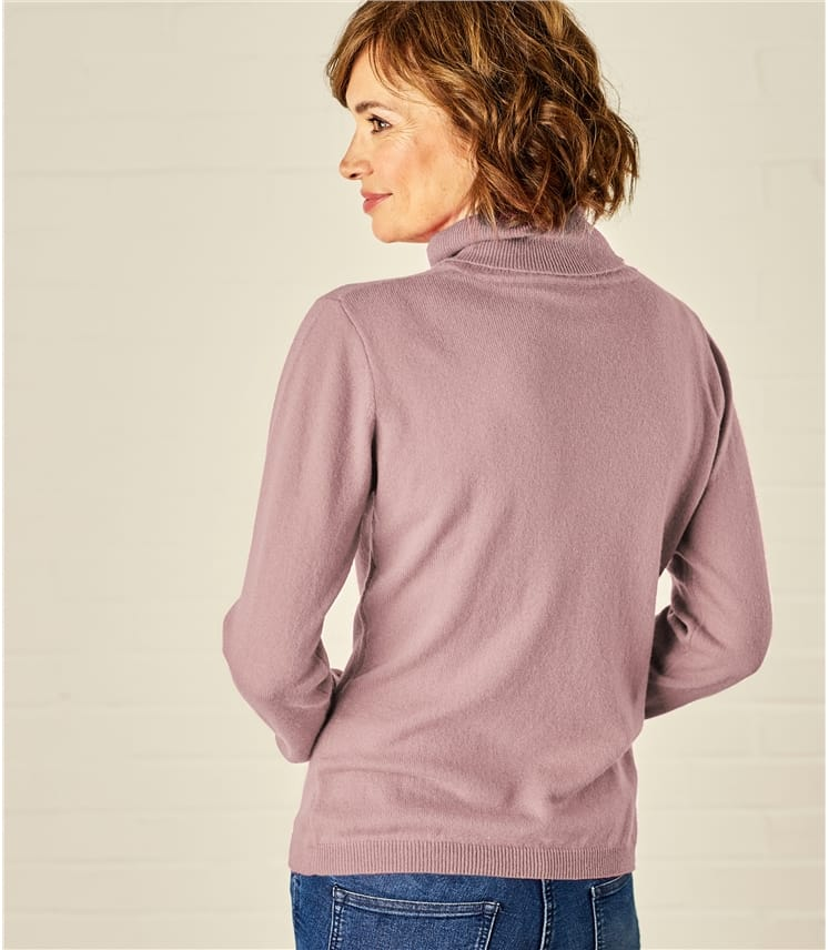 Womens Cashmere and Merino Turtle Neck Sweater