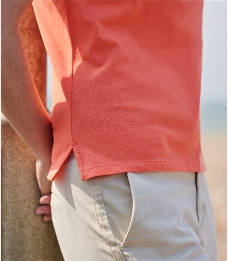 Womens Cotton Pique Polo Shirt