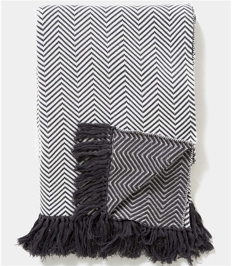 100% Cotton Chevron Blanket
