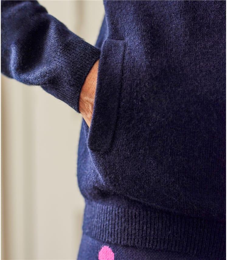 Cardigan à capuche Détente luxueux - Femme - Cachemire & Mérinos