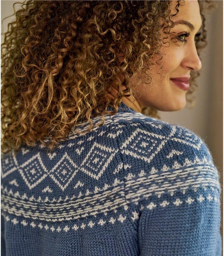 Womens Chunky Fairisle Sweater