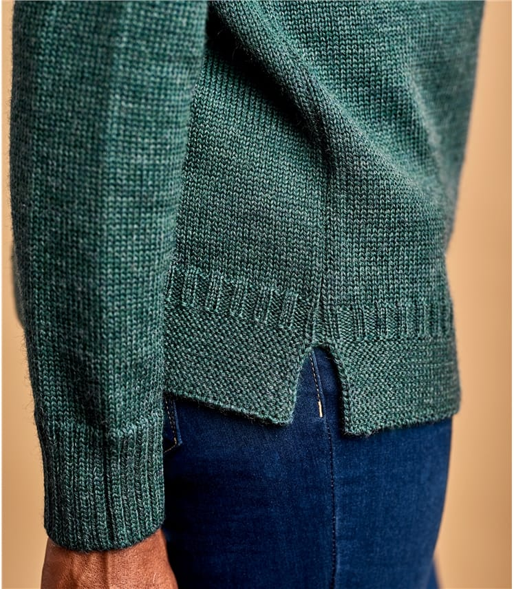 Womens Pure Wool Guernsey Jumper