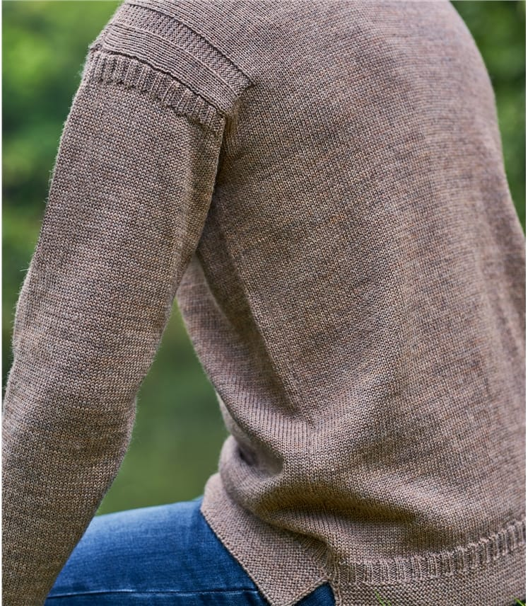 Mens Pure Wool Guernsey Jumper