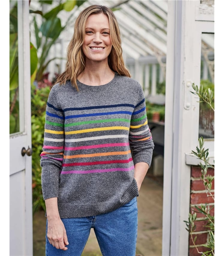Multi Stripe Lambswool Sweater