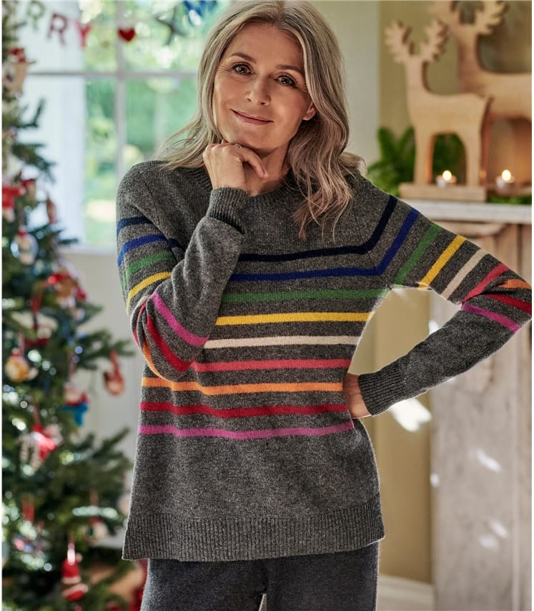 Womens Pure Merino Stripe Jumper