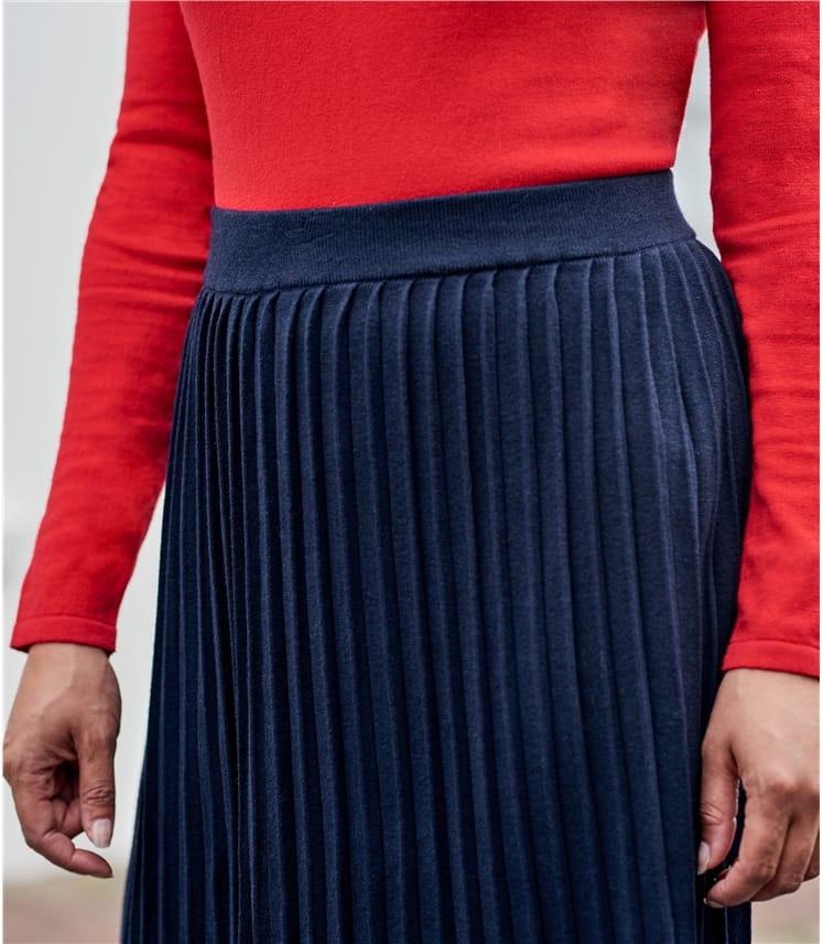Jupe plissée - Femme - Coton mélangé