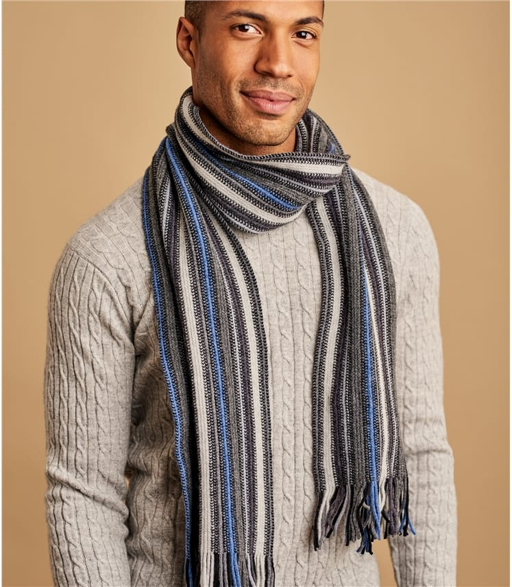 Mens Vertical Stripe Scarf