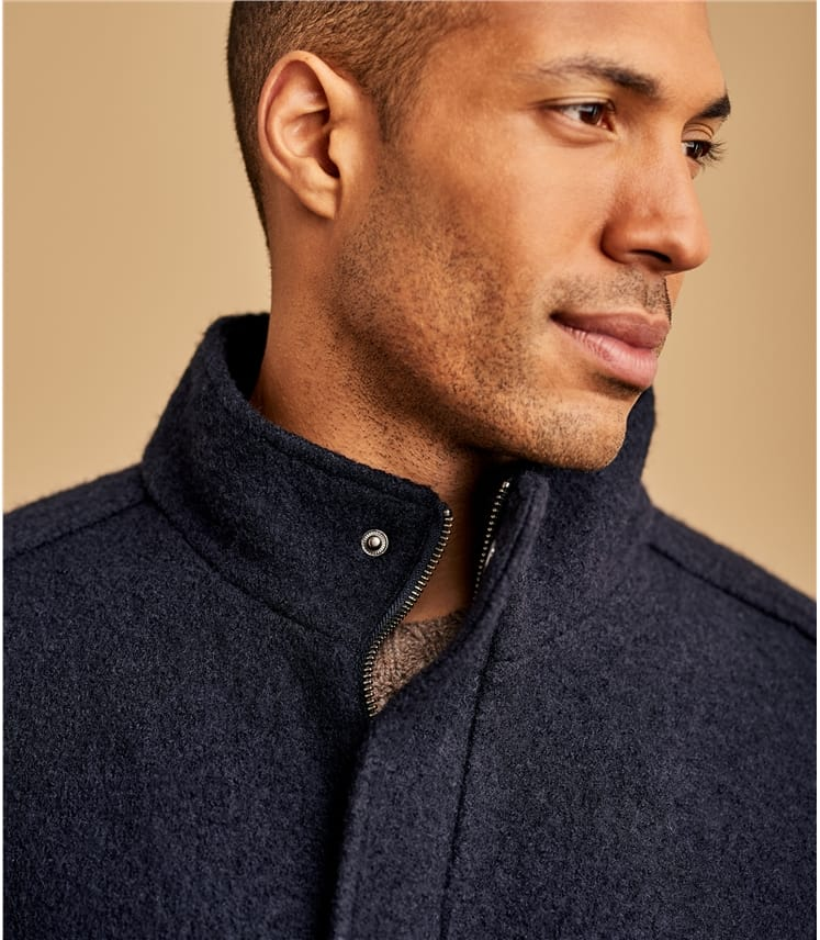 Mens Boiled Wool Jacket