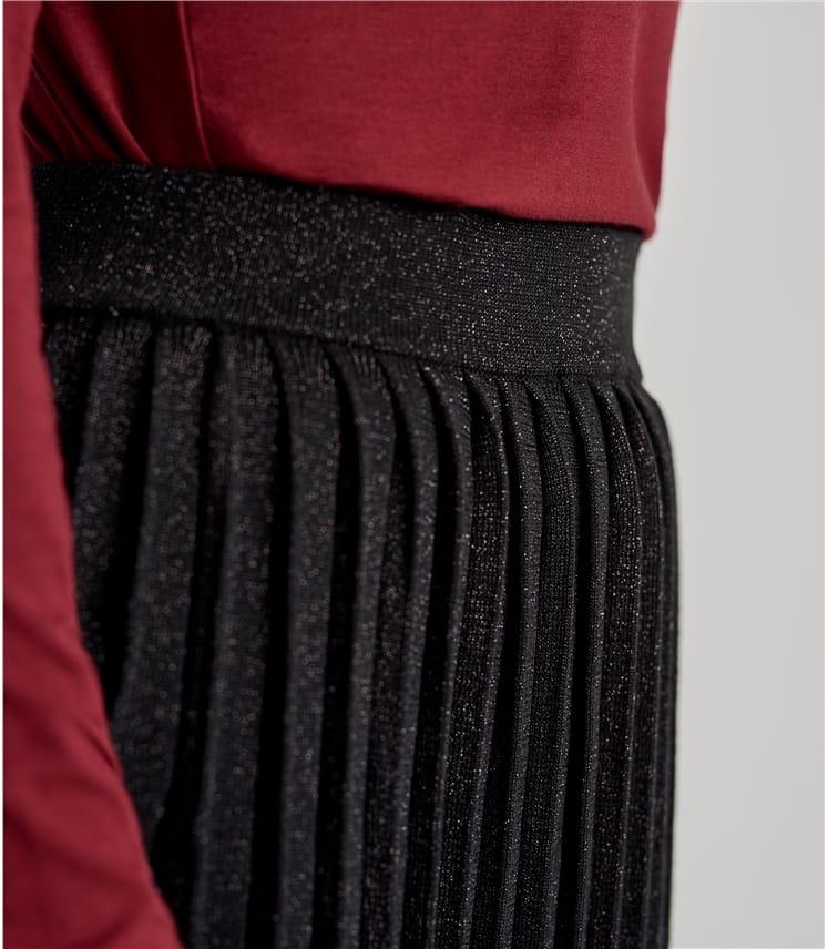 Плиссированная юбка с люрексом