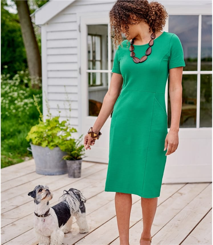 Womens Jersey Shift Dress