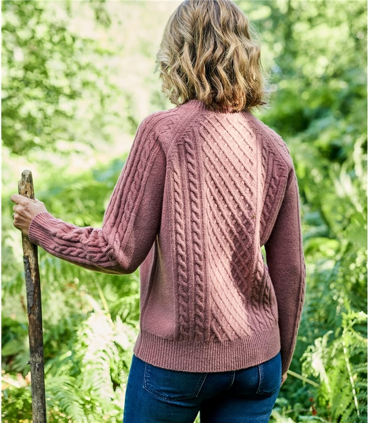 Womens Merino Modern Cable Jumper