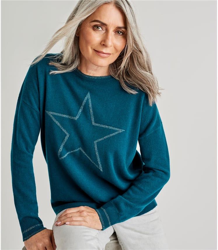 Pull étoile Lurex - Femme - Cachemire & Mérinos