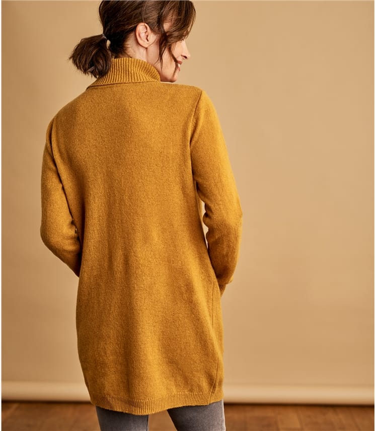 Womens Lambswool Pocket Tunic