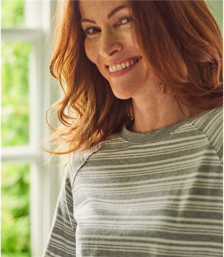 official photos 958d6 60340 Jersey Pyjama Top aus Baumwolle und Modal für Damen