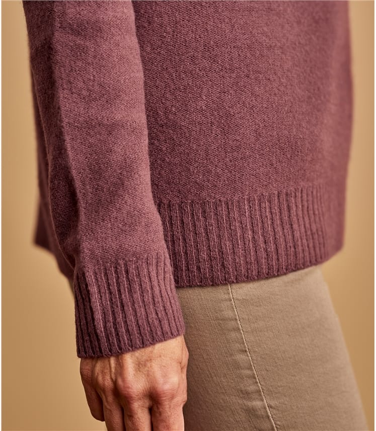 Luxurious 100% Yak Rolled Edge Sweater
