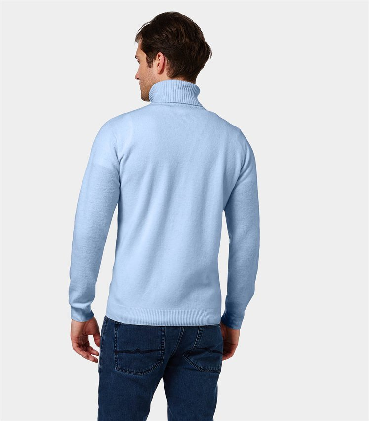 Mens Lambswool Polo neck Jumper