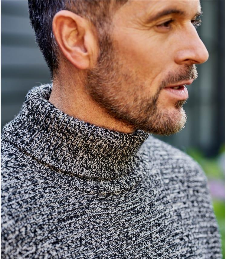 Мужской меланжевый свитер