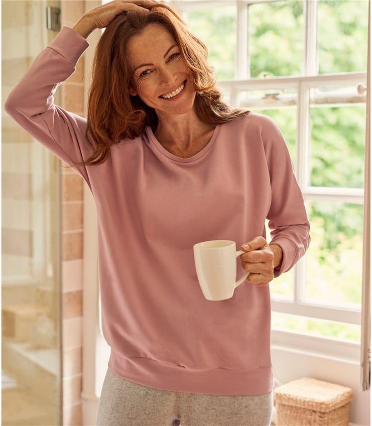 Womens Brushed Long Sleeve Sweatshirt