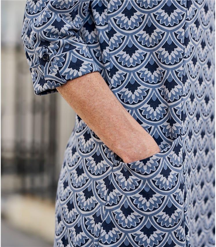 Womens Jersey Seam Detail Tunic Dress